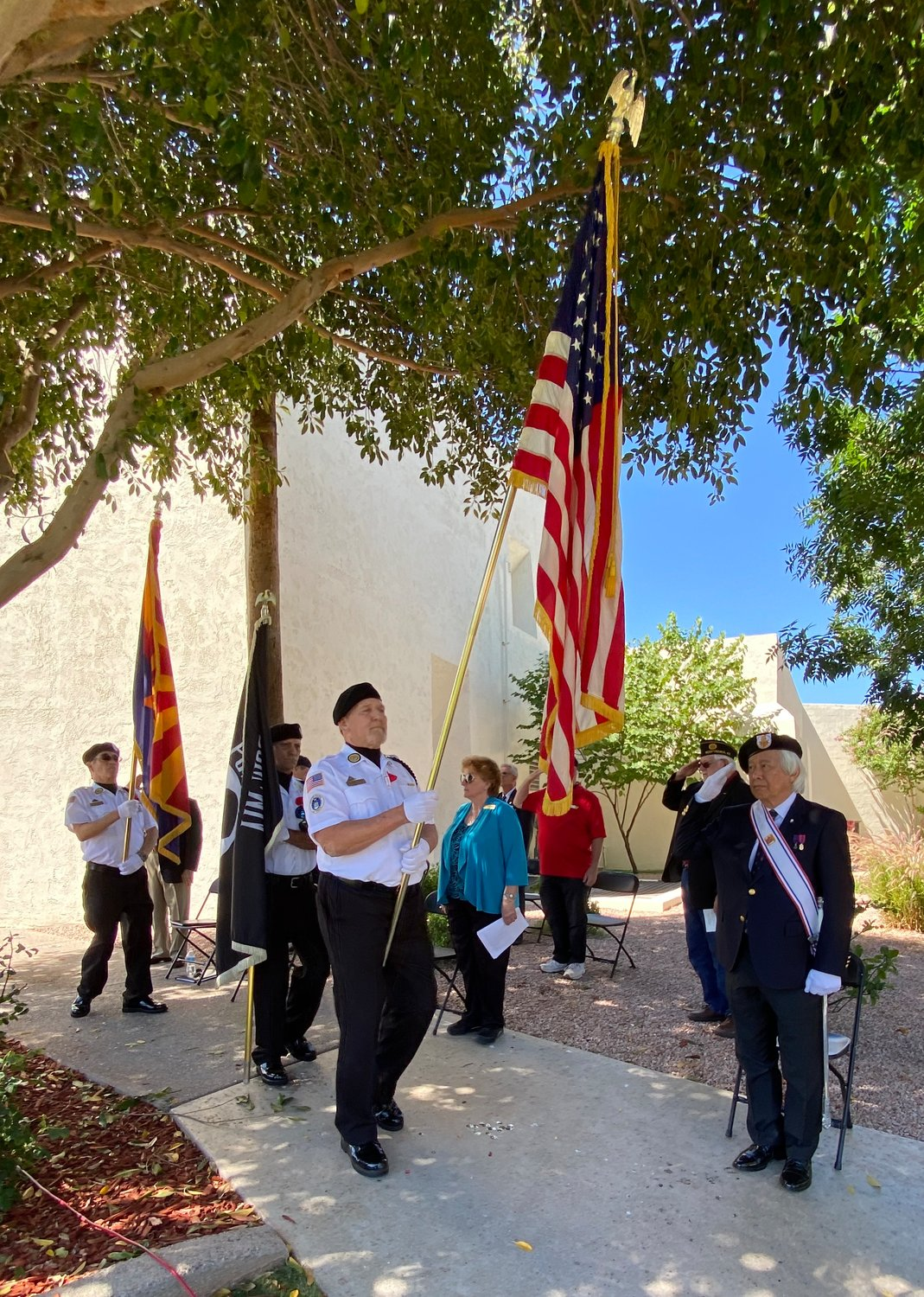 A view of the Memorial Day service at Scottsdale Civic Center Park.