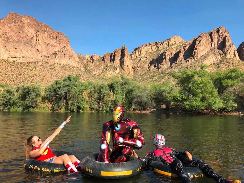 Salt River Tubing is in northeast Mesa, seven minutes from Loop 202 Exit 23A on North Power Road in the Tonto National Forest