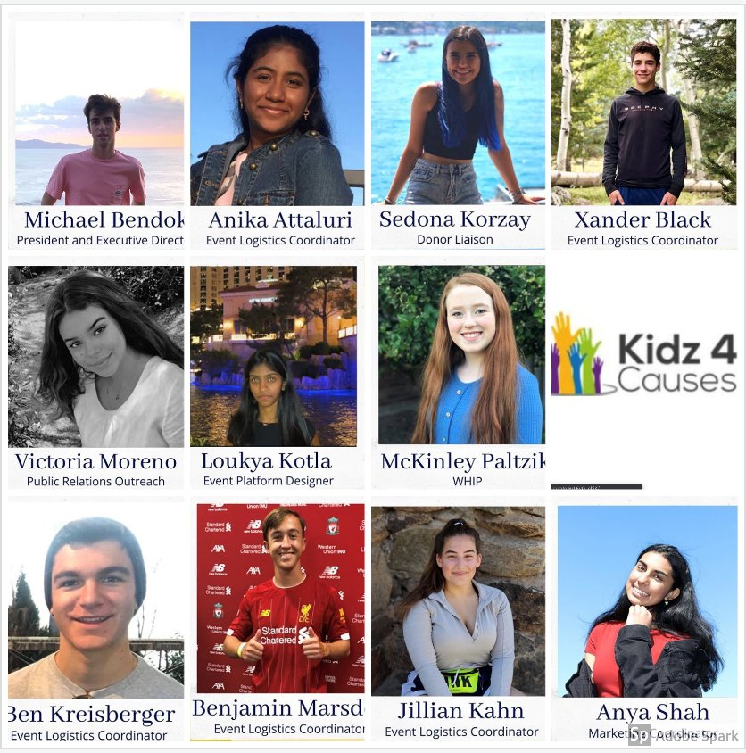 Kidz 4 Causes, which started in 2015, selects initiatives ranging from benefiting TGen, and underfunded speech and debate programs, to raising funds for the Navajo Nation.