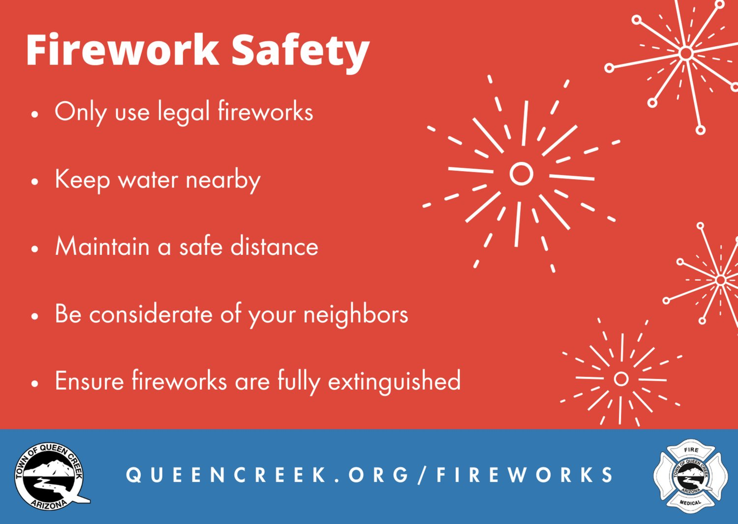 Not all fireworks are legal in Arizona. Legal consumer fireworks include ground and sparkling devices.