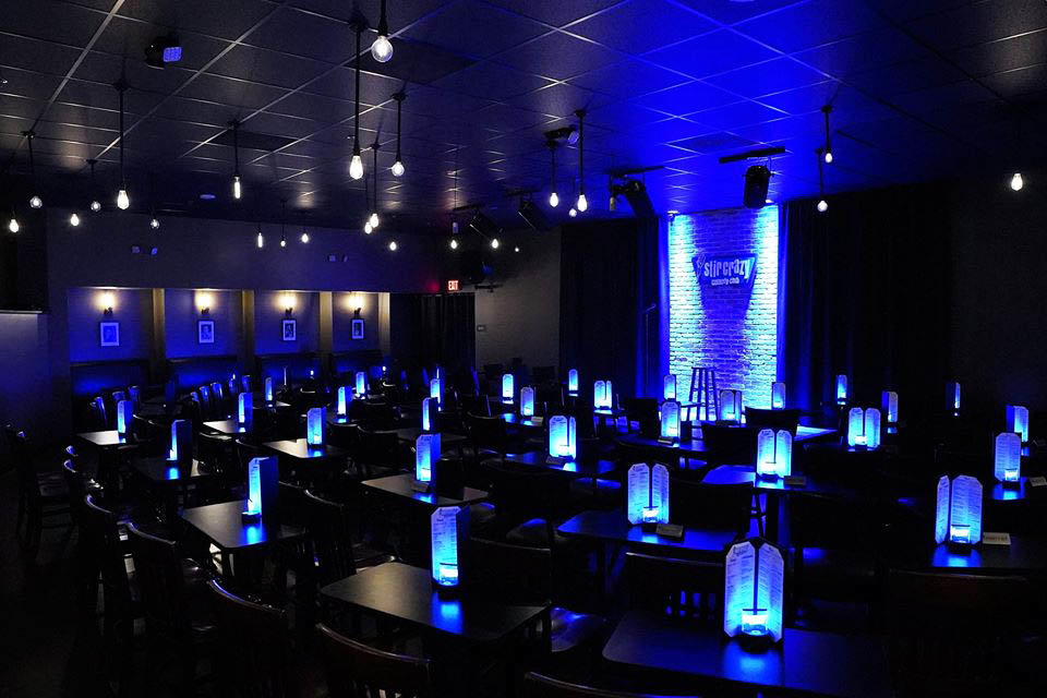 Stir Crazy Comedy Club in Glendale has shut down through July due to coronavirus precautions.
