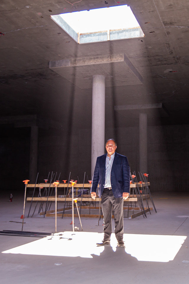 In this 2019 picture, Five Star Development President Jerry Ayoub stands in a glowing ray of sunlight within his Ritz-Carlton Paradise Valley project. Five Star has now filed a lawsuit seeking a declaratory judgment for an official opinion on aspects of an agreement between the Town of Paradise Valley and the development entity.