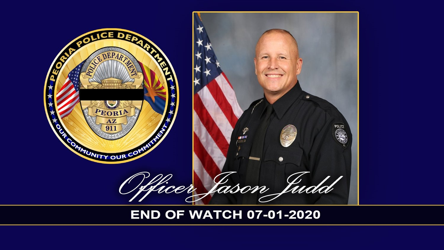 Peoria police Officer Jason Judd died July 1, 2020 following a motorcycle accident at Liberty High School, near 91st Avenue and Deer Valley Road.