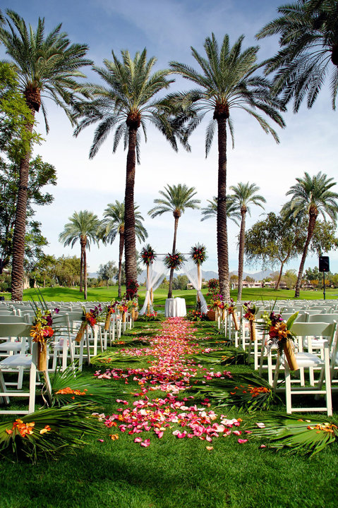 Outdoor weddings can be held at Hyatt Regency Scottsdale, 7500 E. Doubletree Ranch Road, in the Gainey Ranch community.