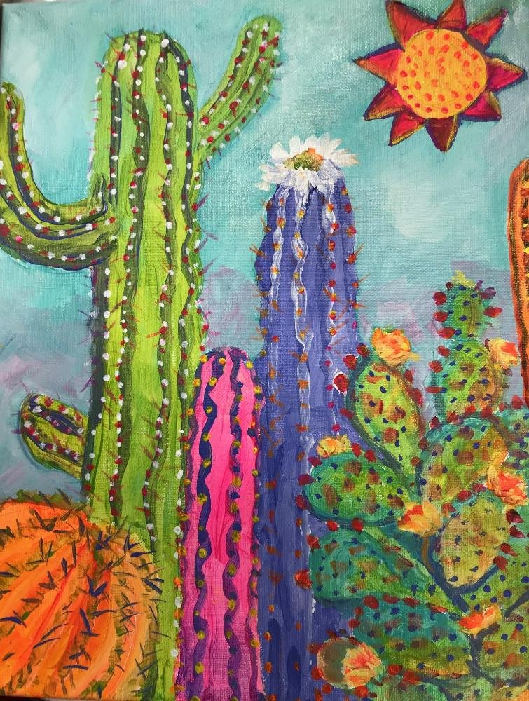 "The Aug. 7 theme for WHAM Family Paint Night will be ""Fantasy Cactus"","" led by WHAM artist Deb Dahlin and CARee Tolle."