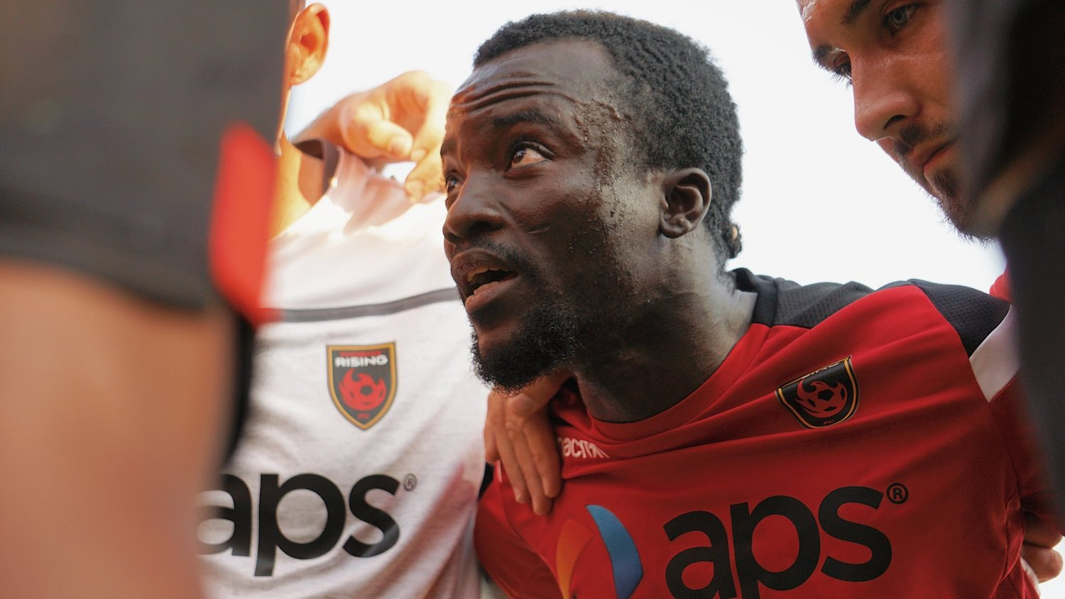 Phoenix Rising captain Solomon Asante gets his team in the right mindset for Saturday night's home match against El Paso Locomotive FC.