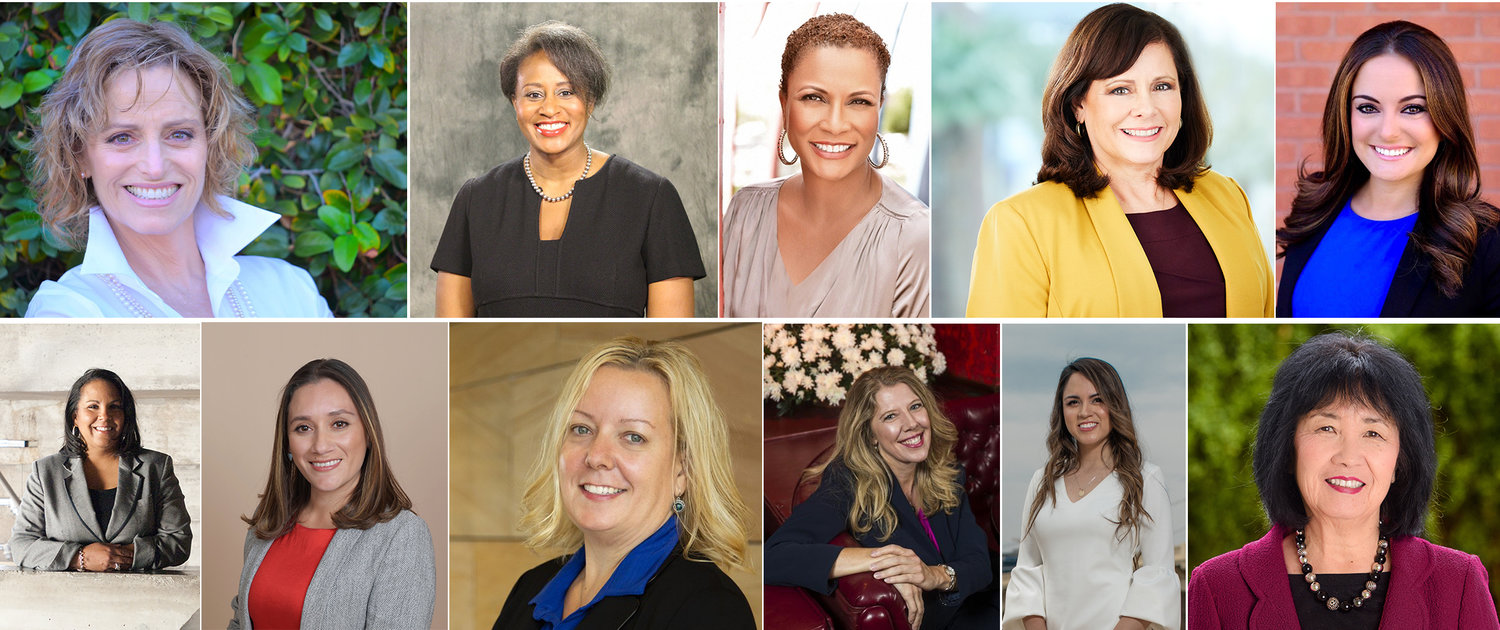 (From left to right) Top row: Rhonda Bannard, Monica Garnes, Rachel Frazier Johnson, Peggy Chase and Veronica Aguilar. Bottom row: Chevy Humphrey, Anna Carolina Ortiz, Dorix Savron, Torrie Taj, Monica Trejo and Dr. Christine Wilkinson.