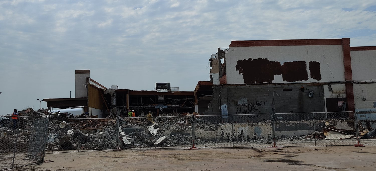 The former Smitty's is in the process of being demolished. The process will continue through September. A public meeting to discuss the future of the property is scheduled for Aug. 25.