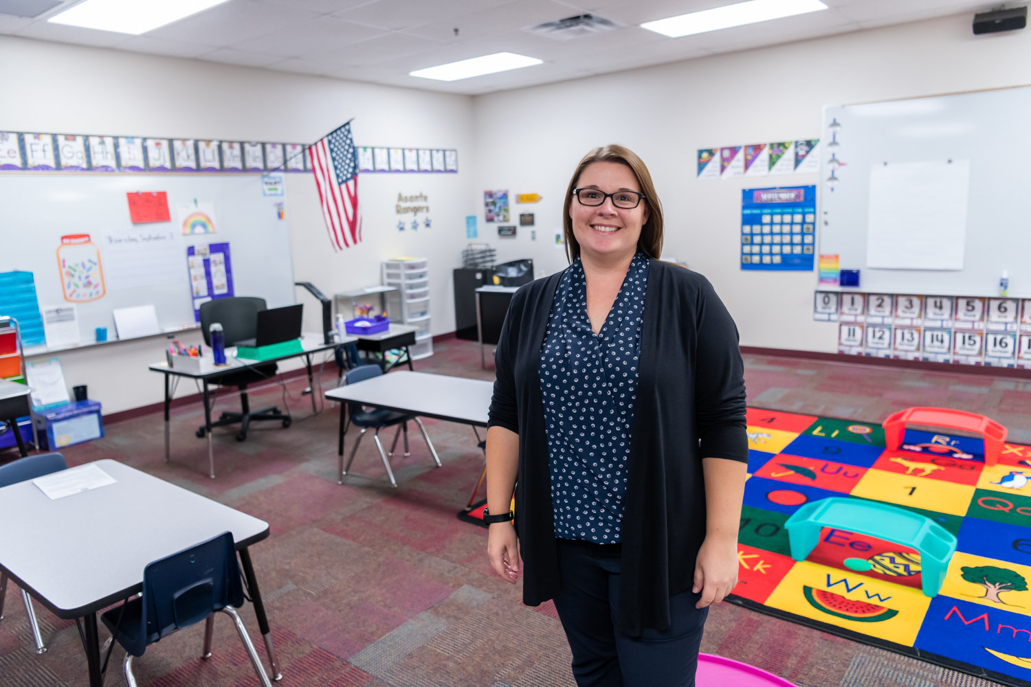 Jennifer Maddox is teaching first graders at Asante Preparatory Academy in Surprise and is excited to get back in to the classroom.
