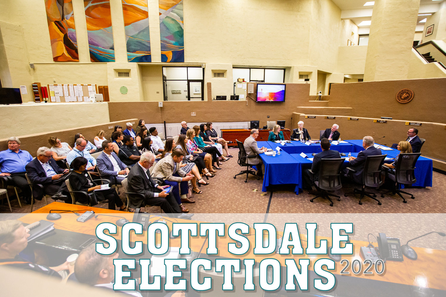 The Scottsdale City Council candidates opine about the perceived difficult parts of becoming an elected member, how they cope with workplace stress and how their skillset can be leveraged for several years if they are elected. Pictured are mayors from across the Valley gathered at Scottsdale City Hall, 3939 N. Drinkwater Blvd. for a 2019 event.
