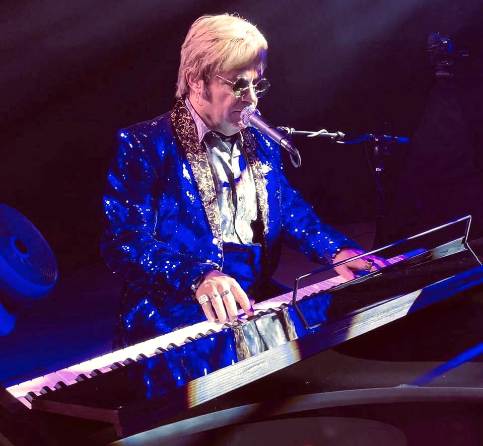 "Jeff Burkett stars as Elton John in the ""Candle In The Wind"" show Oct. 24 in Glendale."