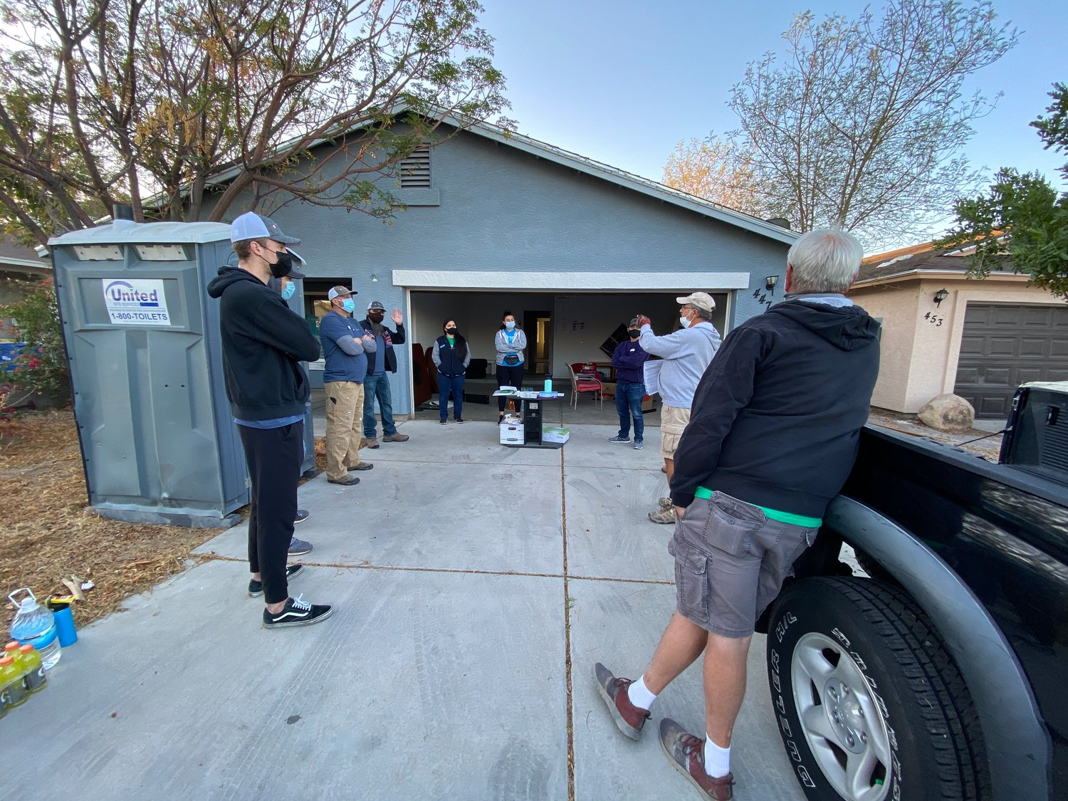 Habitat for Humanity of Central Arizona welcomed six volunteers from ABI Multifamily on Saturday to help kick off the project with a morning of demolition followed by and a signing ceremony.