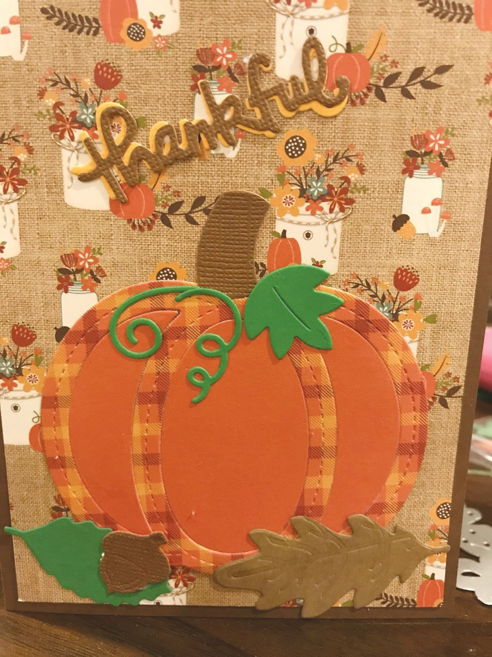 This is a Thanksgiving card made by a club member. [Submitted photo]