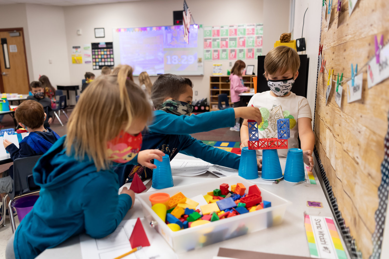 On Nov. 24, masked Canyon Ridge School K-8 students in Surprise participated in a STEM Collaboration Day to solve various problems using the engineering design process. On Monday, Gov. Doug Ducey rescinded a statewide requirement for people, including students, to wear masks. It will now be up to local school districts.
