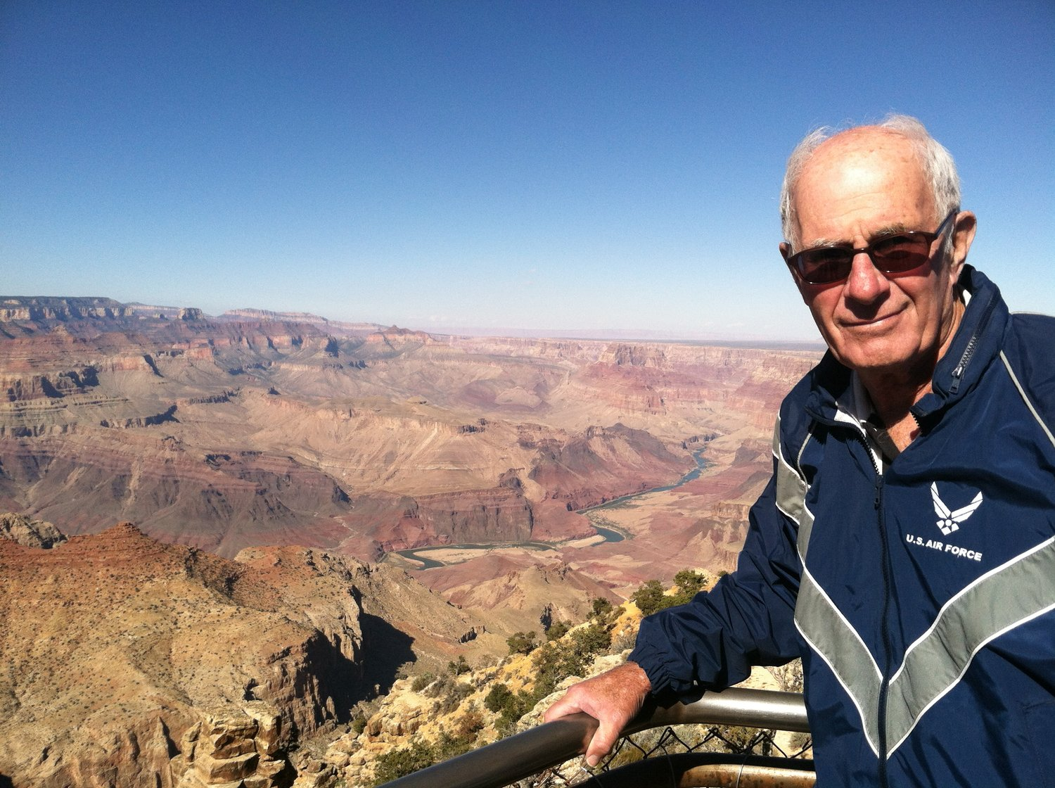 Leonard Kirschner poses near the canyon during a pre-pandemic visit to Grand Canyon National Park.