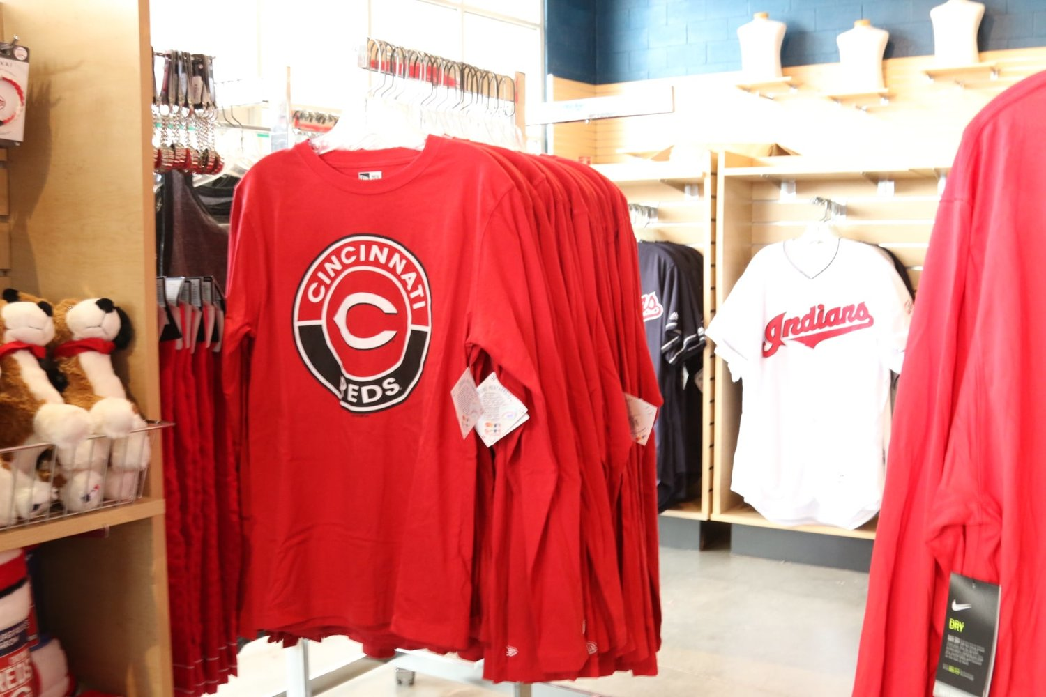 Goodyear Ballpark's team shop is packed with team and spring training merchandise.