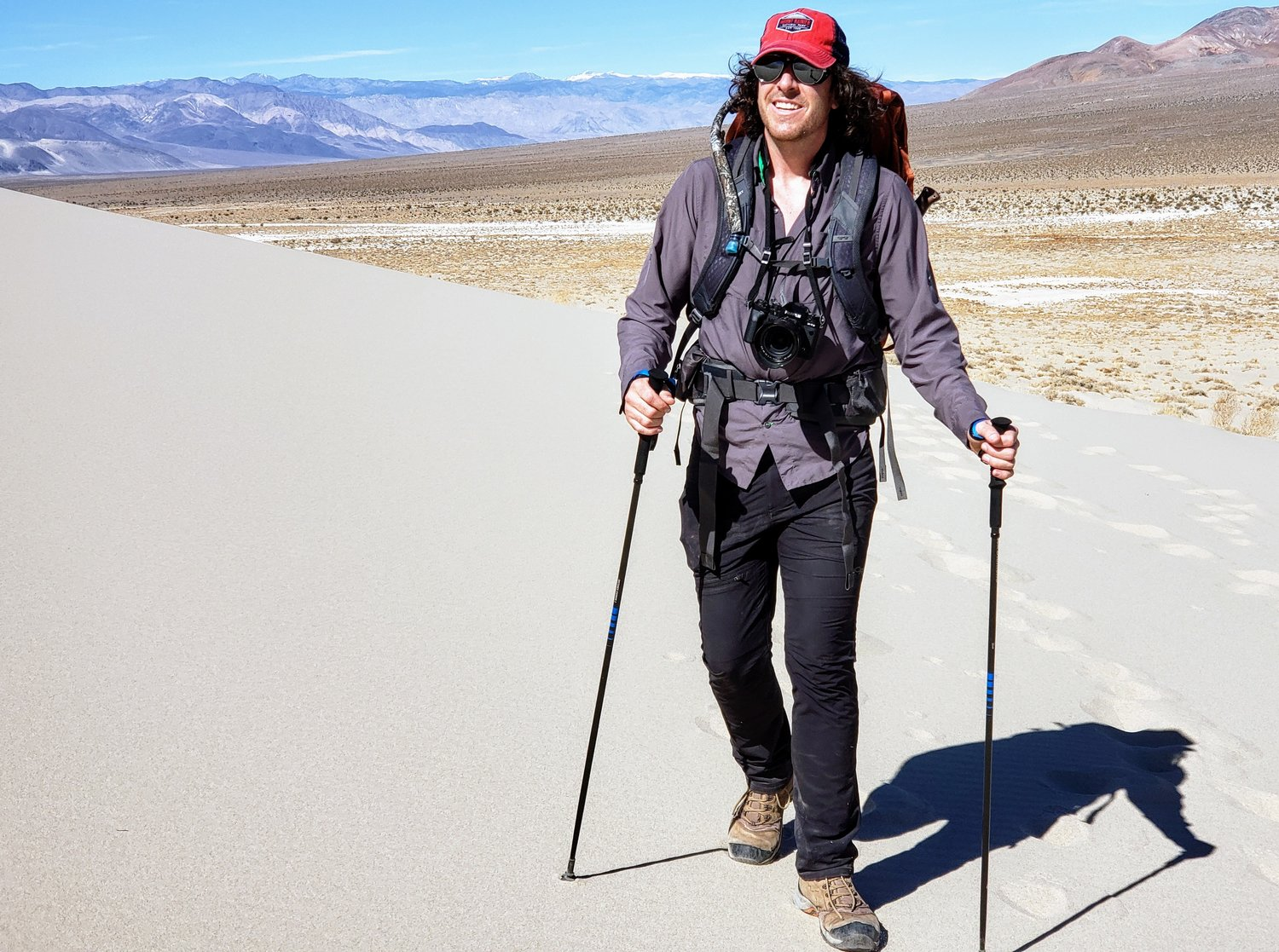 Jeff Zausch begins the ascent of Eureka Dunes, which are almost 700 feet high in a very remote area of the park.