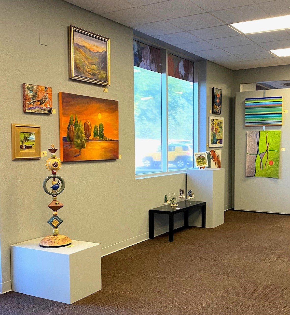 Art on display at Ground Floor Artists in Surprise.