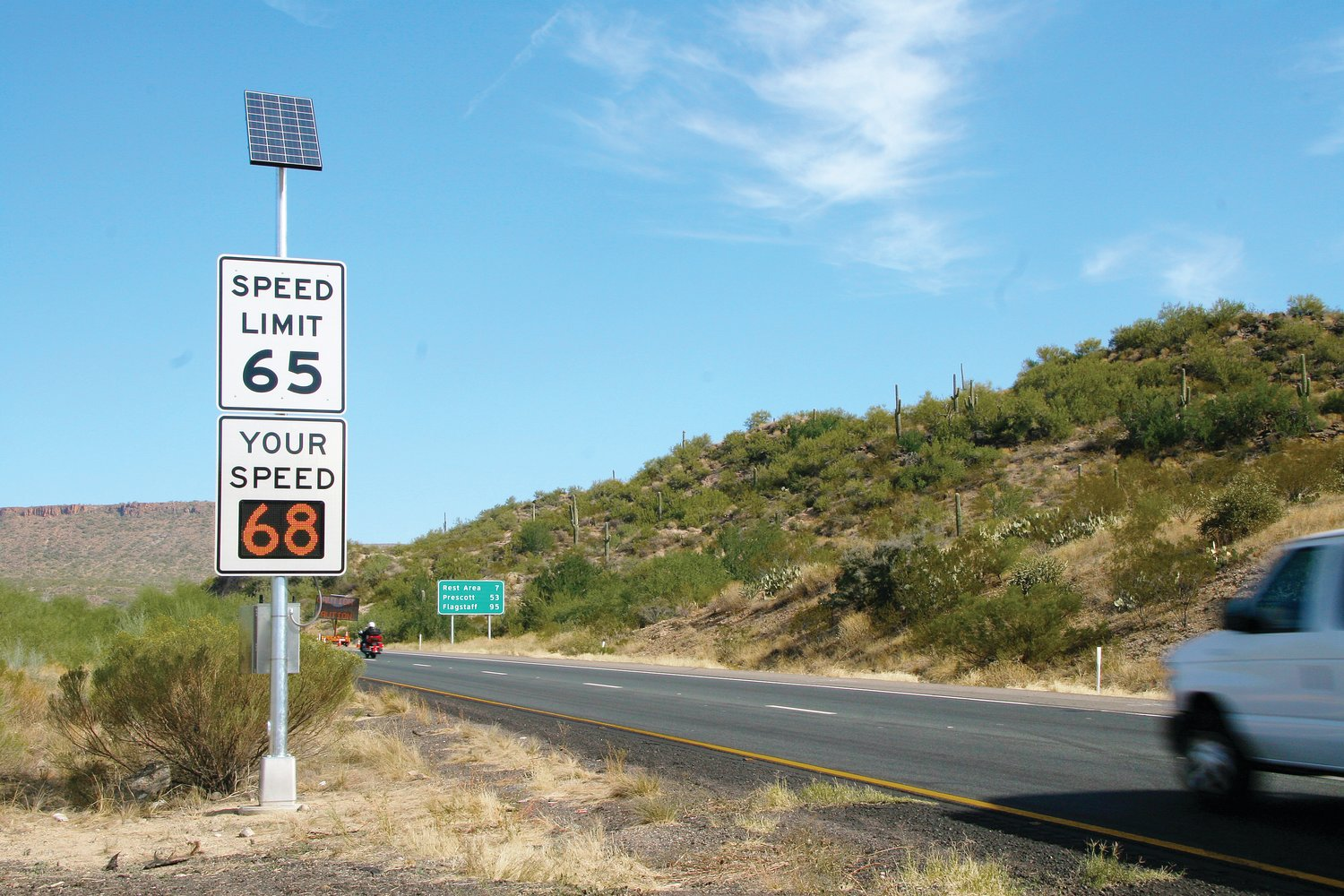 The Arizona Department of Transportation recommends making special preparations whenever traveling in Arizona during hot weather. [Courtesy of ADOT]