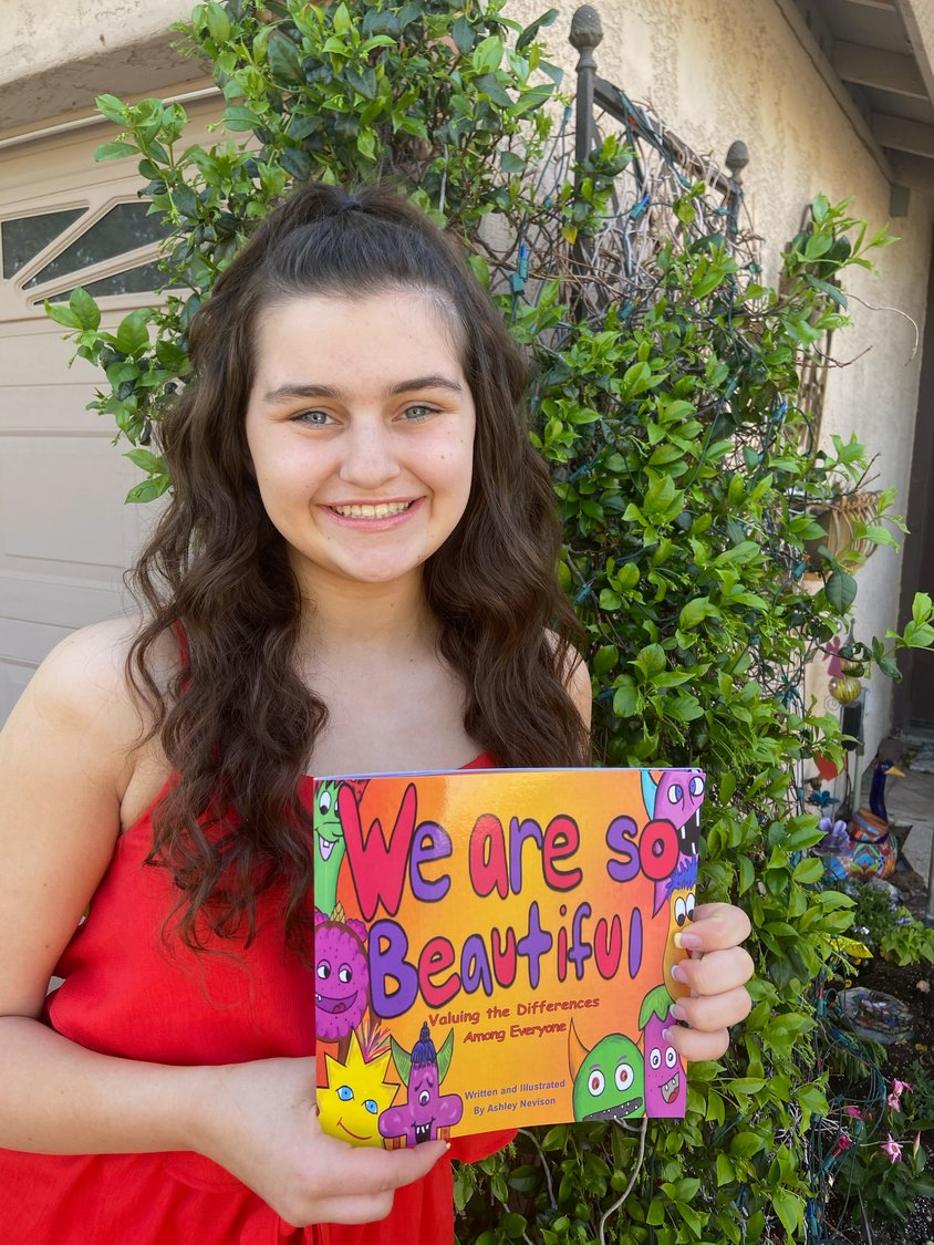 "Ashley Nevison, 14, publishes her second children's book, ""We Are So Beautiful; Valuing the Differences Among Everyone."""