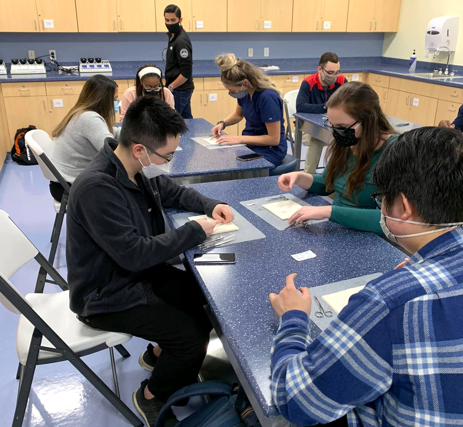 In collaboration with Midwestern University's Biomedical Sciences program, Arizona College of Podiatric Medicine's student doctors hosted a suture workshop in an effort to strengthen the relationship between the Master's program at Midwestern with AZCPM.