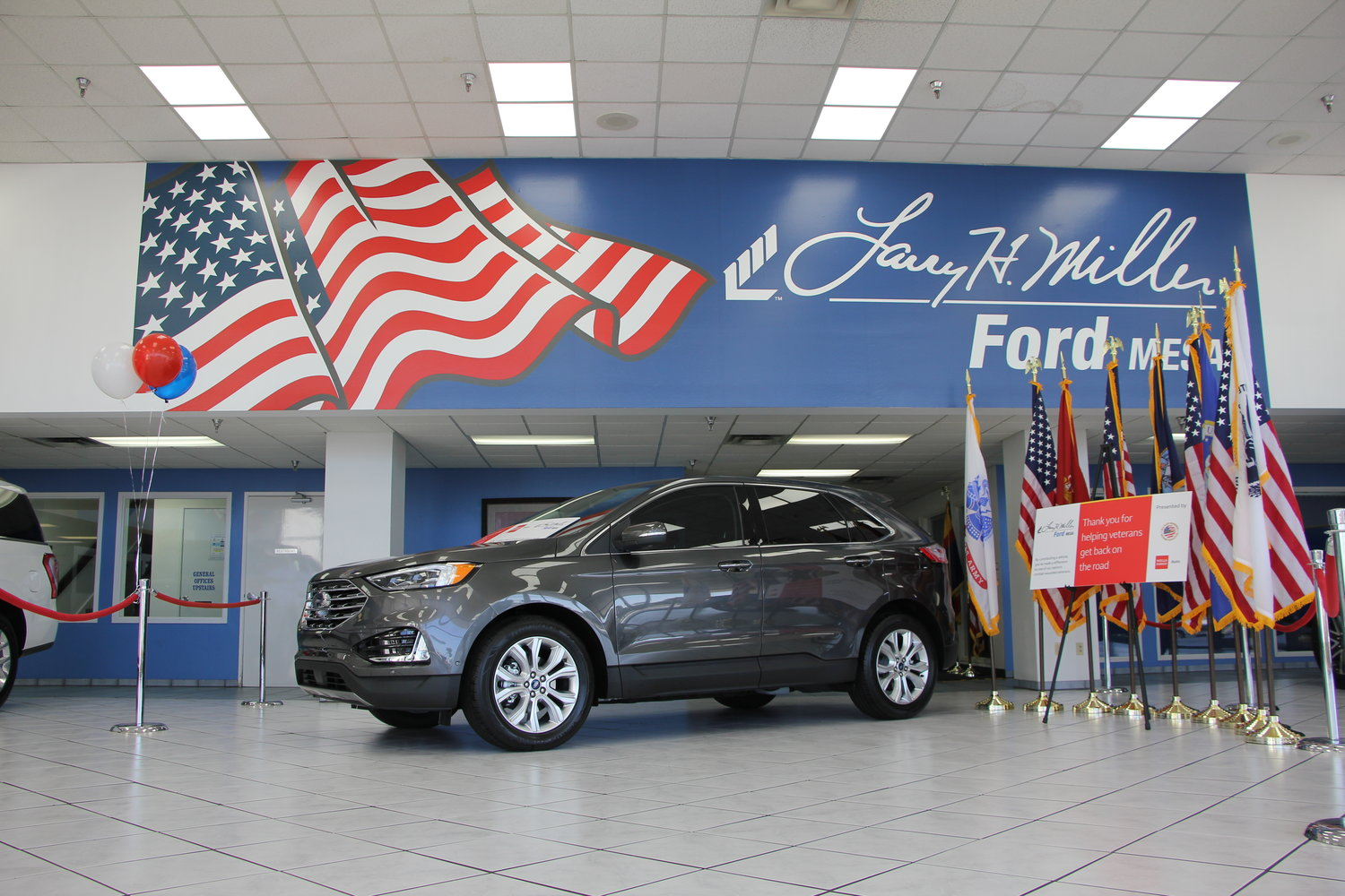 The donated 2020 Ford TRKS Edge.